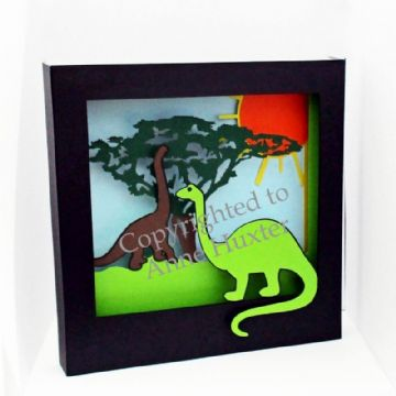 Dinosaur Picture Shadow Box Template